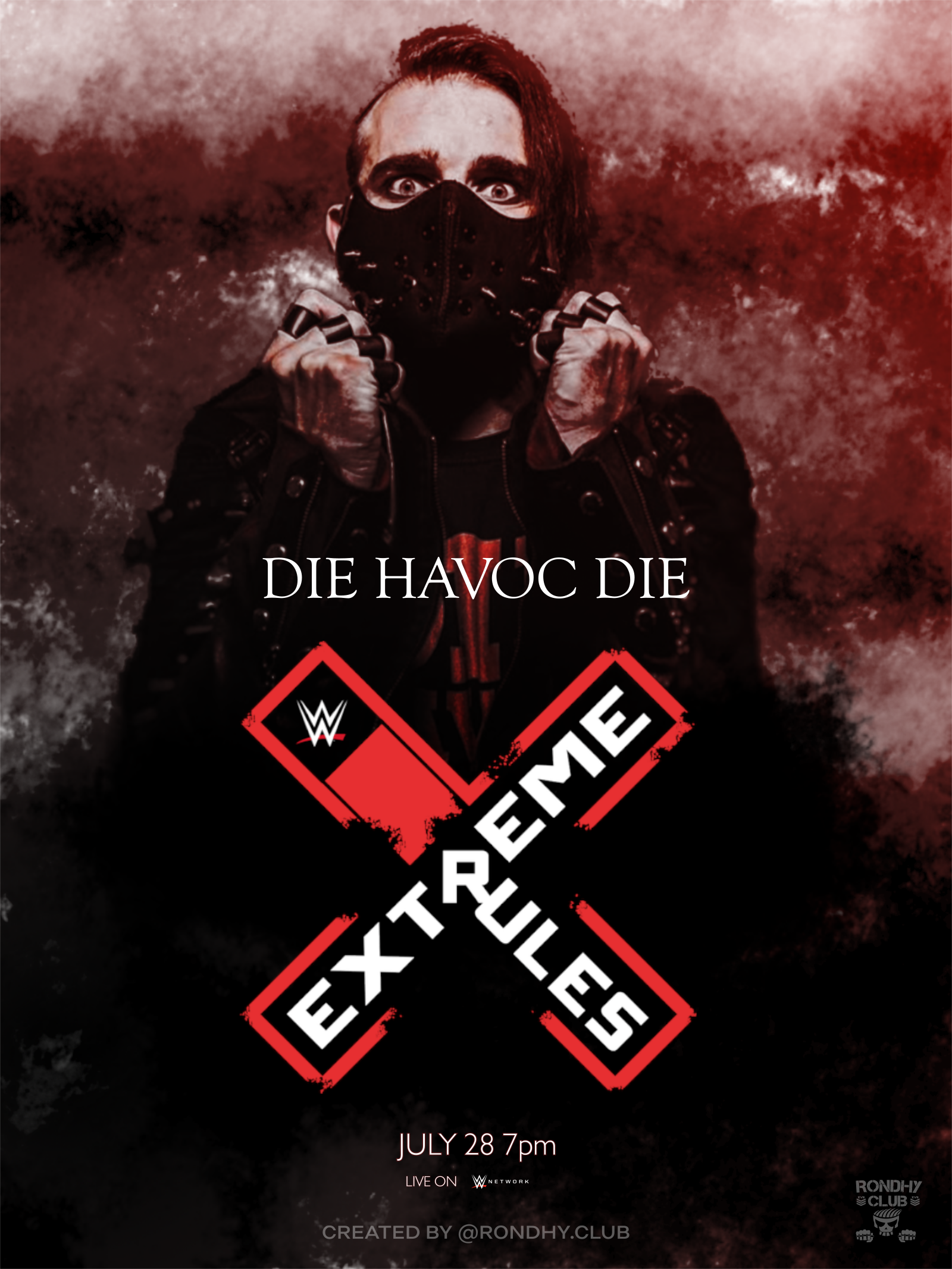 Pro Wrestling Extreme Rules 2019 Wwe Ppv Jimmy Havoc Fan Art By Rondhy Club Rondhyoliveira Prowrestling Design Wwe Ppv Poster Wrestling Ar