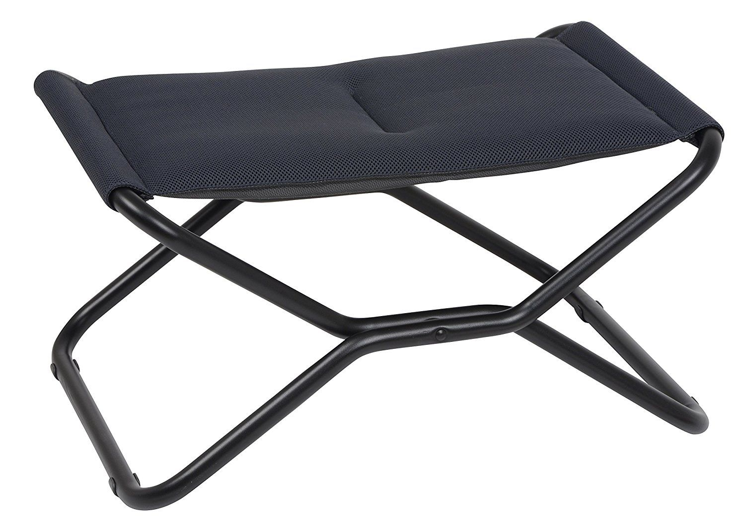 Camping Accessories :Lafuma Next Air Comfort   Folding Footrest/Stool    Black Steel Frame