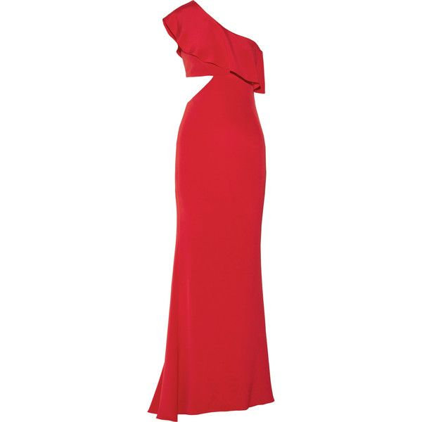 Bea One-shoulder Cutout Silk Crepe De Chine Gown - Claret Cushnie et Ochs Clearance Online Ebay Outlet Wide Range Of jcwqQYtwc