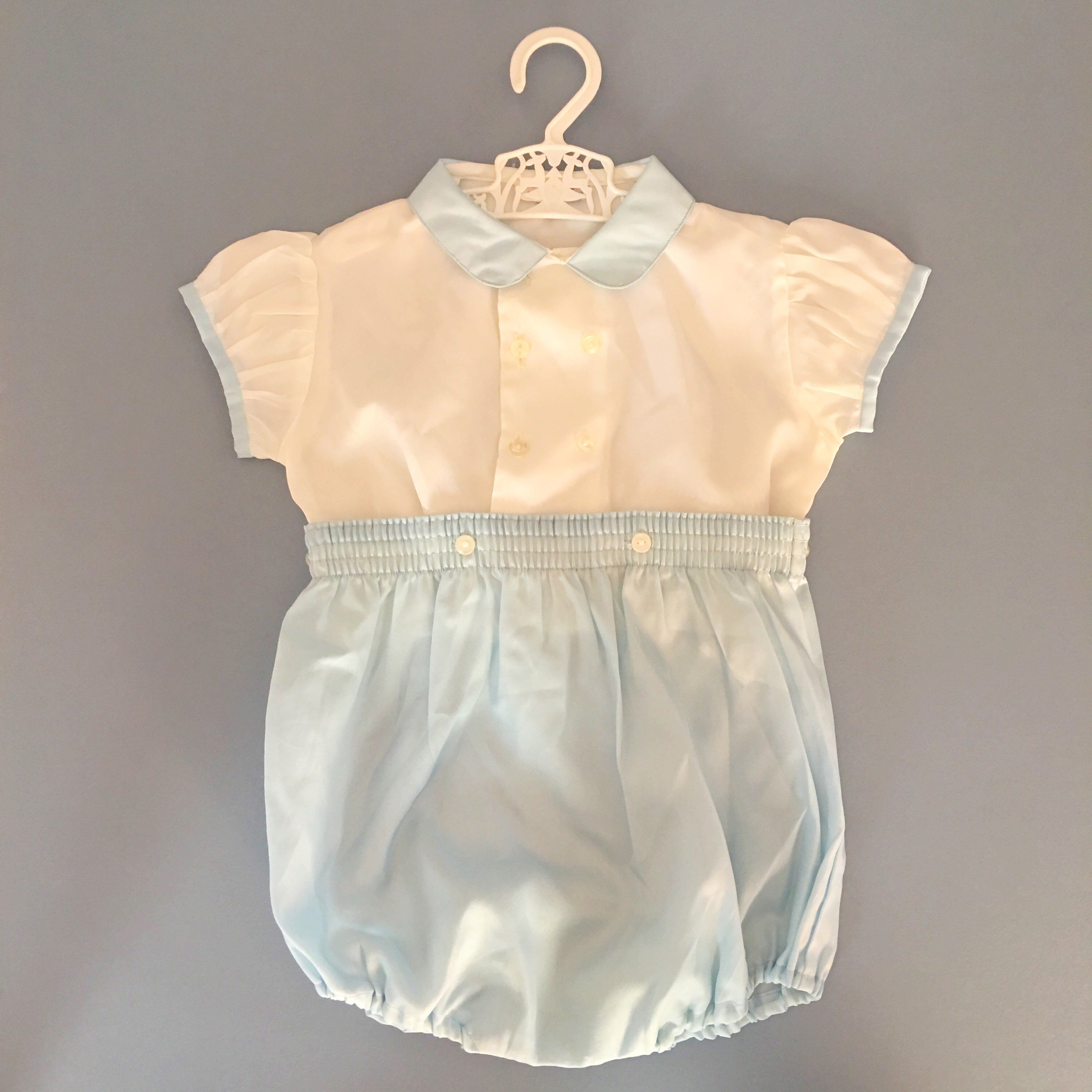 33bd24a6078 Vintage 18-24 Months baby boy blue white romper shorts traditional baby  prince classic baby outfit