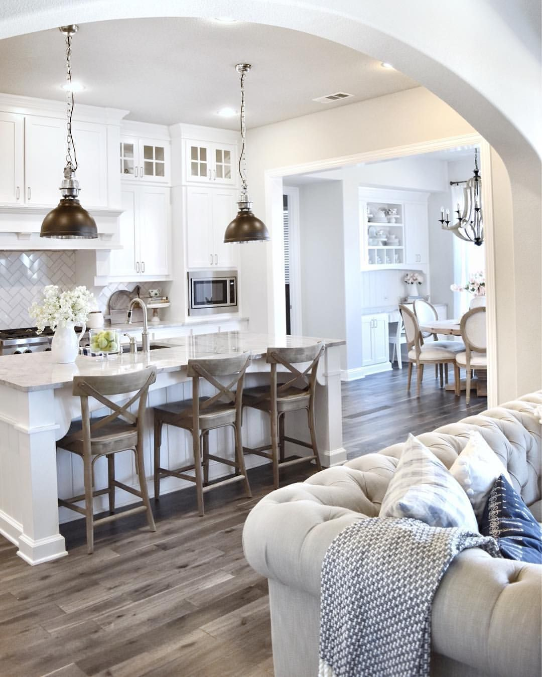 Open kitchen, nook space and family room. ~ ERIN (@mytexashouse) on ...