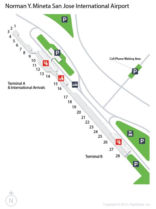 Sjc Terminal Map : terminal, FlightStats, International, Airport,