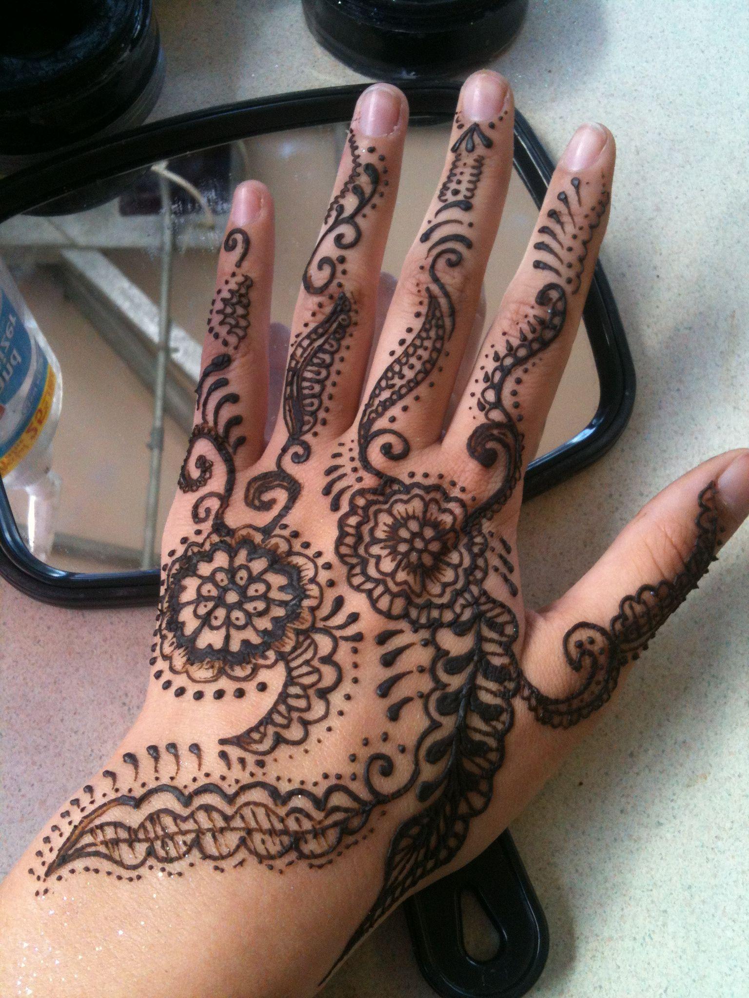 Henna done by me hand henna henna