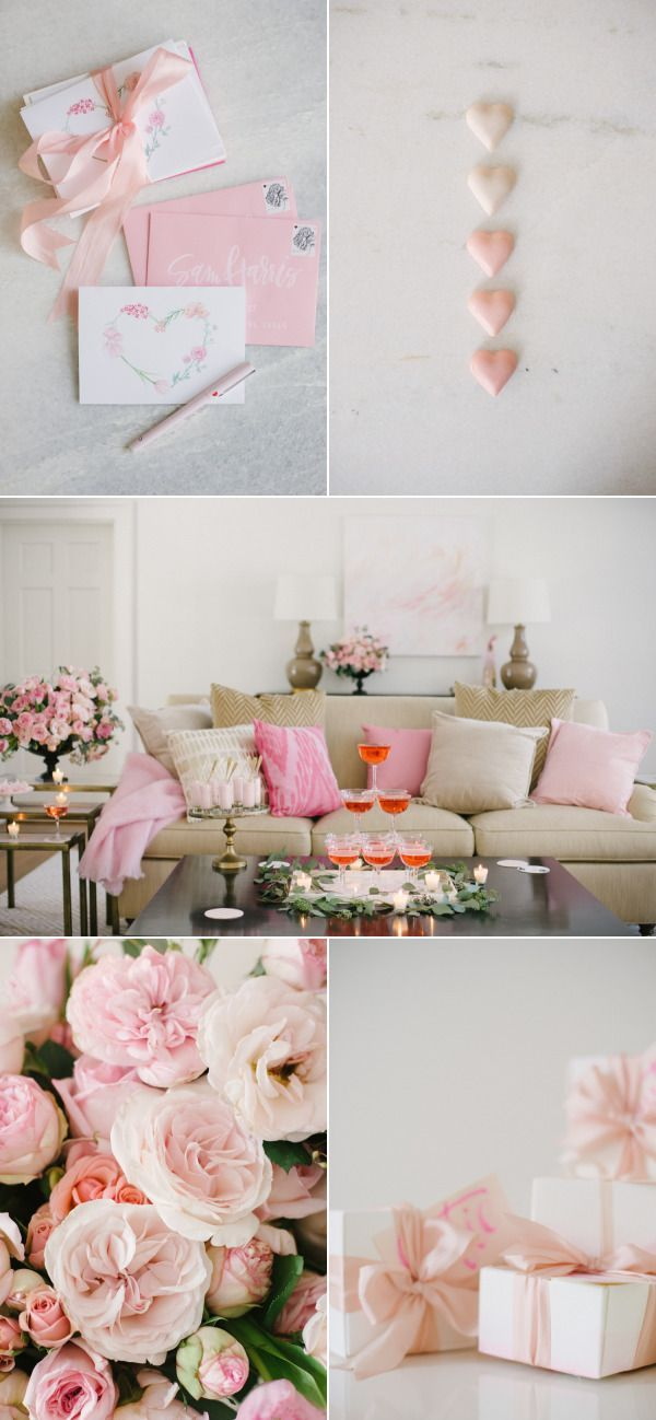Blushing, Dessert Filled Valentine's Party at Home | Style Me Pretty Living | Bloglovin'