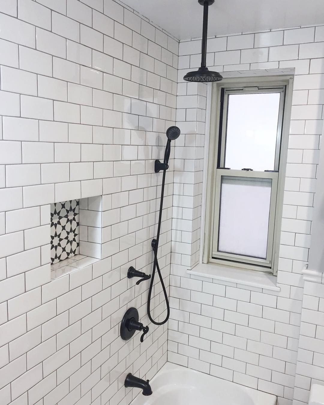 White Subway Gray Grout Oil Rubbed Bronze Fixtures Gorgeous Classic Bathroom Luxurious Showers Oil Rubbed Bronze Fixtures Bronze Fixtures
