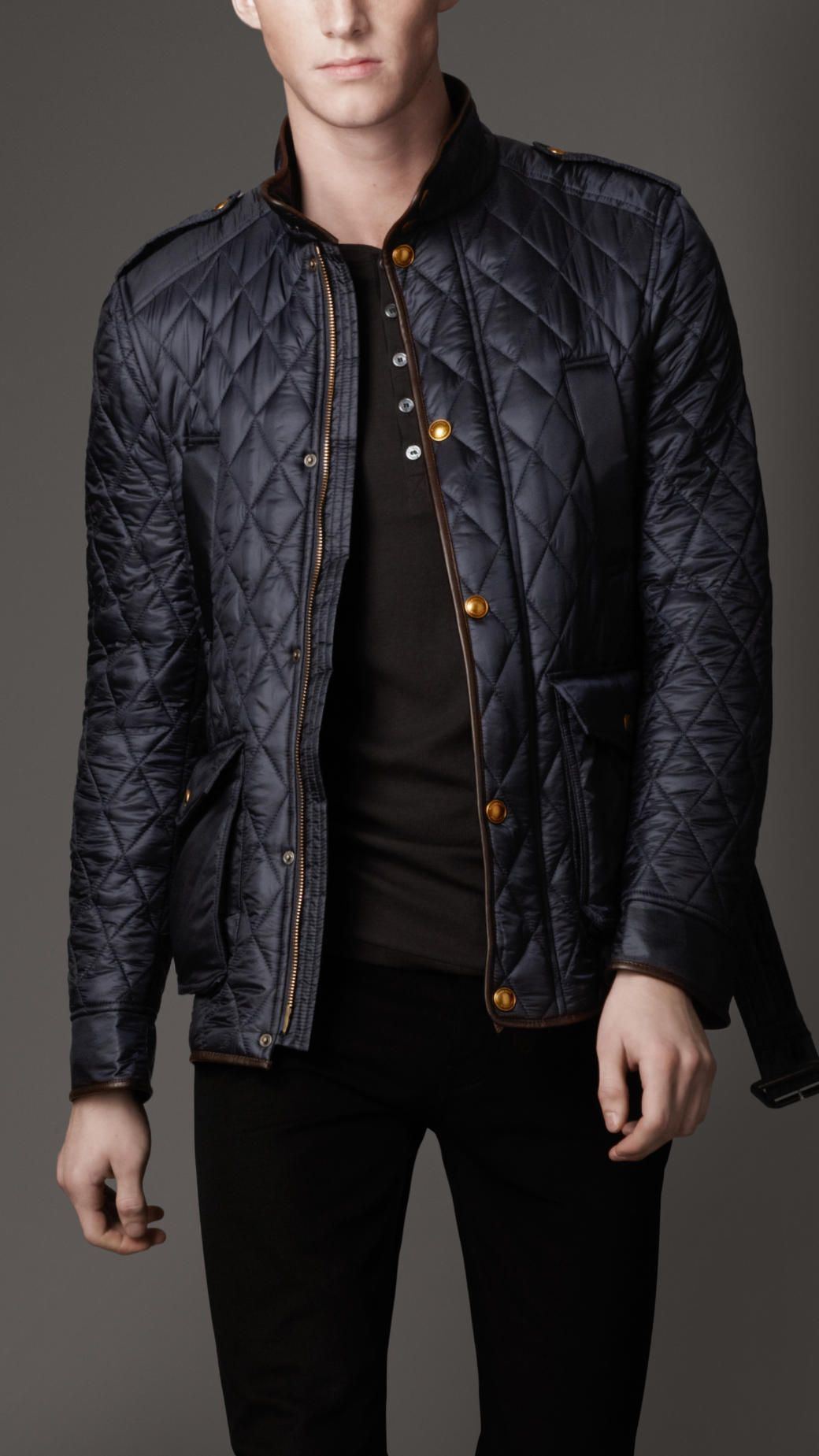 595 Burberry Diamond Quilted Harrington Jacket Black Quilted Jacket Harrington Jacket Designer Clothes For Men