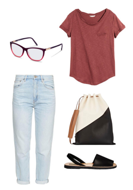 Benötigen Sie Ideen für ein Outfit für einen ganz normalen Tag außer Haus? Setzen Sie eine Rodenstock Brille im Ombré-Look auf und schlüpfen Sie in Skinny Jeans und Slip-On-Sandalen und schon sind Sie ausgehfertig.
