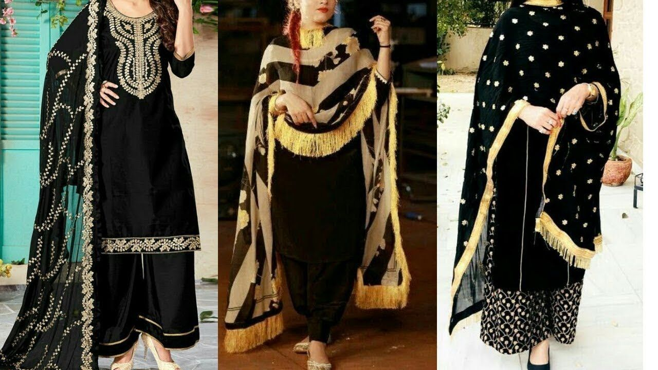 8682e063ebd Black Punjabi Suit Designs || Punjabi Black Suit Designs 2018-2019 ...