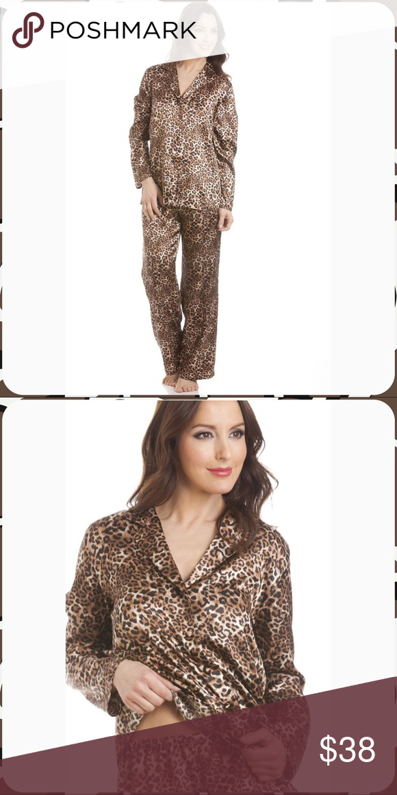 88f17f2abc NWOT Satin PJ Set NWOT super soft and comfy satin leopard print 2 pc ...