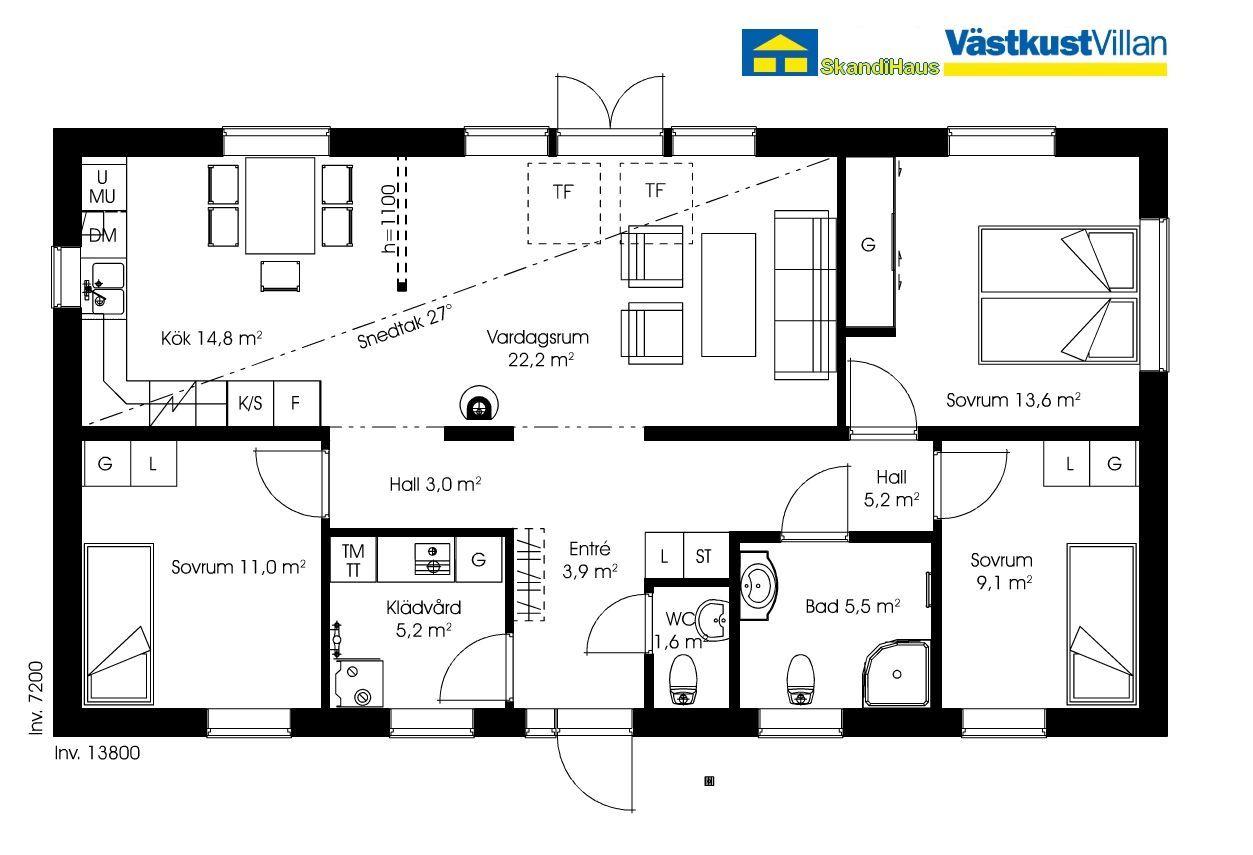 Schwedenhaus eingeschossig skandihaus 99 grundriss