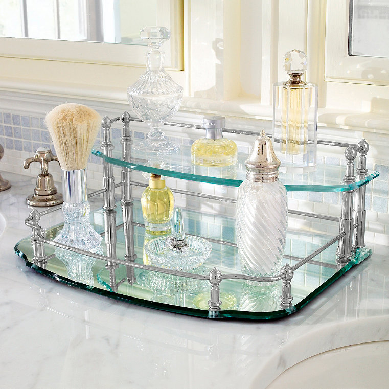 Belmont Two Tier Vanity Tray Frontgate Vanity Tray Turquoise Bathroom Accessories Personalized Vanity