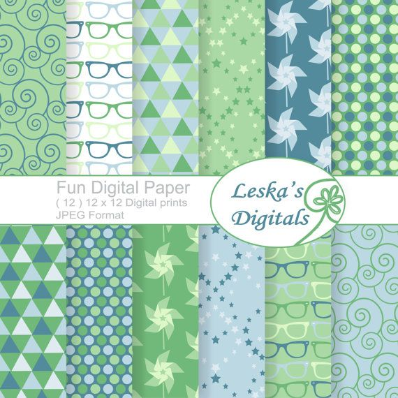 Digital pattern sheets, spring theme for creative use. Blogs, websites, cards, invitations, scrapbooking etc.