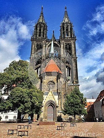 The dome church of Meissen in region Saxony in Germany. It is a small but one of the one of the oldest dome churches in Germany. It is built in the Gothic style.