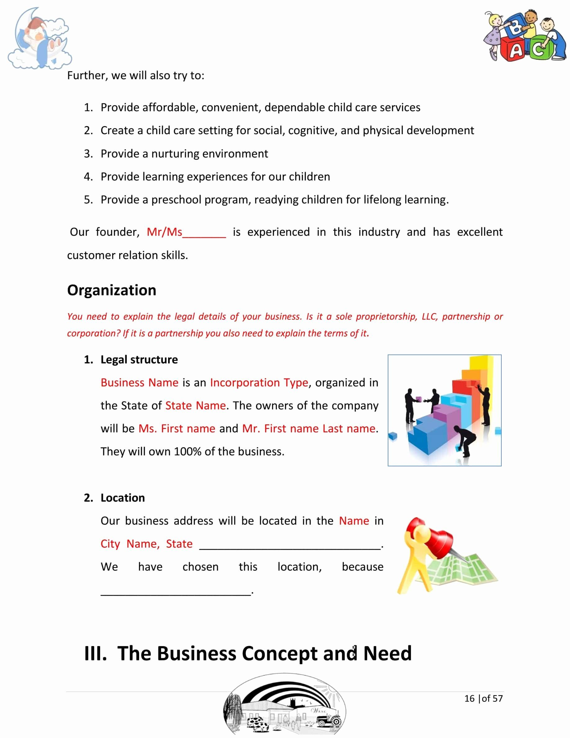 Daycare Business Plan Template Free Download New Day Care