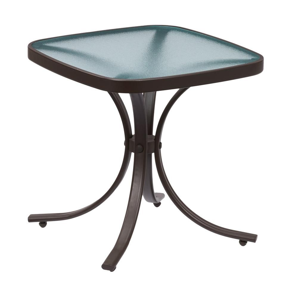 Hampton Bay Mix And Match Square Metal Outdoor Side Table Fts00499