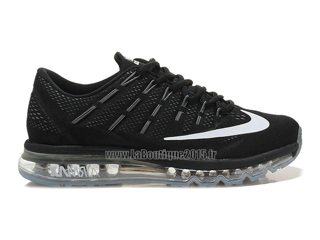 super popular 5bfab 36de4 Officiel Nike Air Max 2016 Chaussures Nike Running Pas Cher Pour Homme Noir  Blanc 764892-ID05