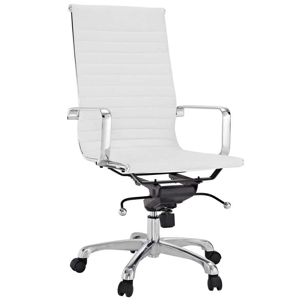 Office Chair Overstock Amish Rocking Cushions Malibu High Back White Vinyl Com 240