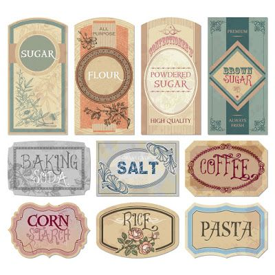 Vintage Labels For Organizing The Pantry