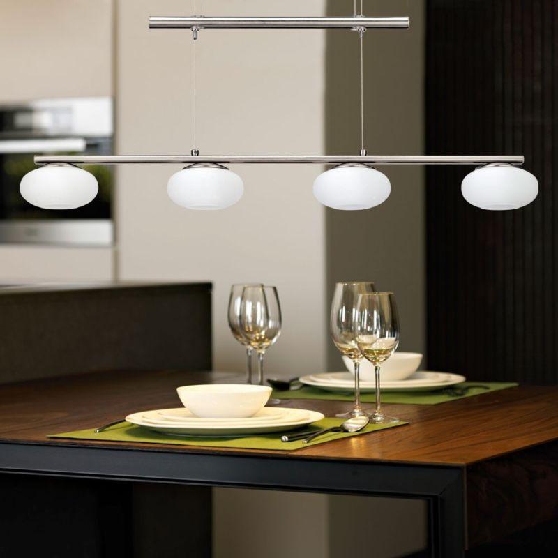 details zu led 24w decken h nge pendel lampe wohn zimmer k chen leuchte h hen verstellbar ebay. Black Bedroom Furniture Sets. Home Design Ideas