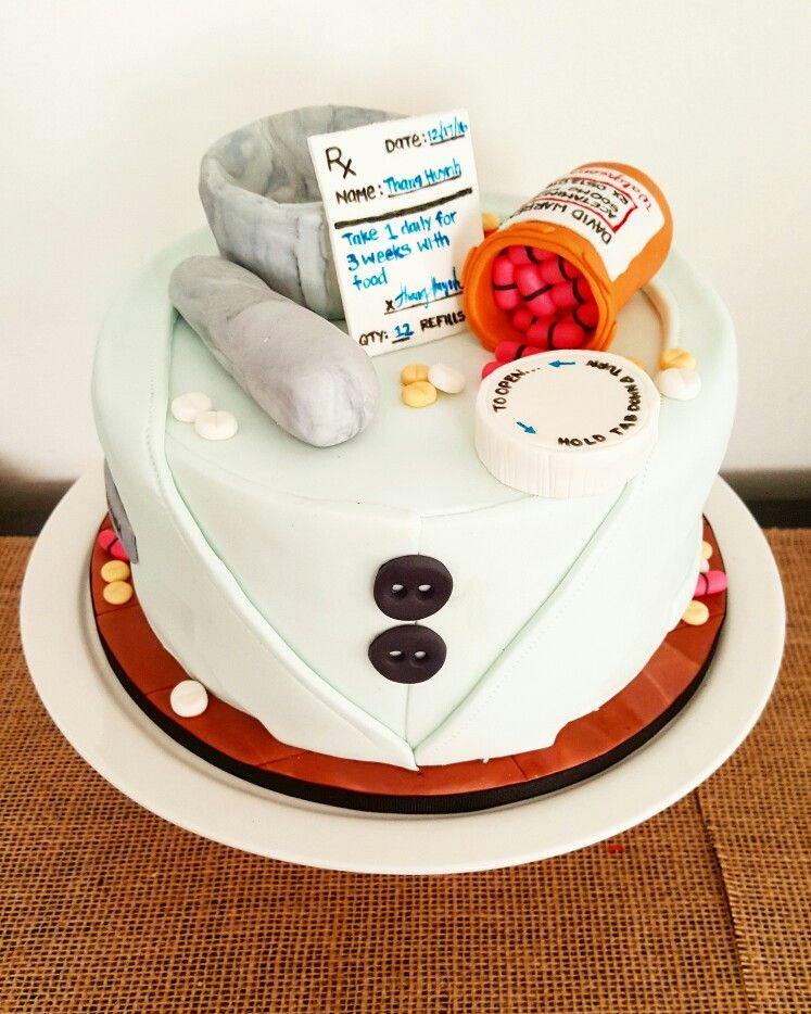 Pharmacy Congratulations Cake.  #brokenwhisk #le_jarre #pharmacy #cake