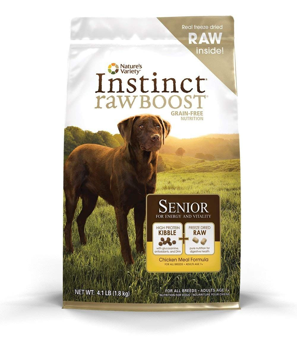 Nature S Variety Instinct Raw Boost Senior Grain Free Chicken Meal Formula Natural Dry Dog Food By 4 1 Lb Dog Food Recipes Raw Dog Food Recipes Dry Dog Food