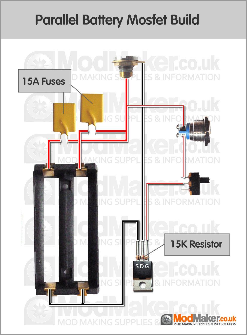 Parallel Battery Mosfet Wiring Diagram Diy box mod, Vape