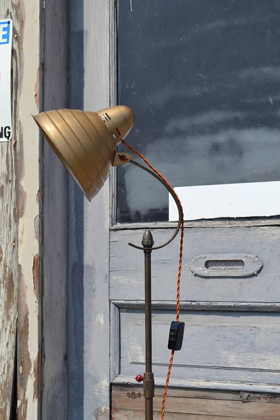 Mid Century Floor Lamp General Electric Floor Lamp Industrial Floor Lamp Retro Lighting Beehive Lamp Steampunk Lamp Industrial Vintage Retro Floor Lamps