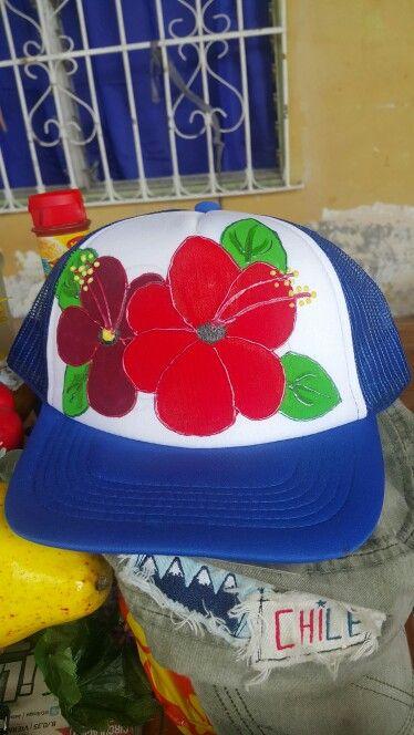 cfb059e2866 Gorras pintadas a mano | Creaciones Sortilegio | Sombreros pintados ...
