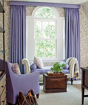 Decorating With Brown Home Purple Rooms Curtains For Arched Windows