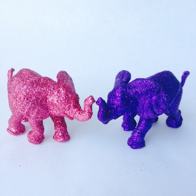 Hot Pink And Purple Baby Elephants Jungle Safari Baby Shower