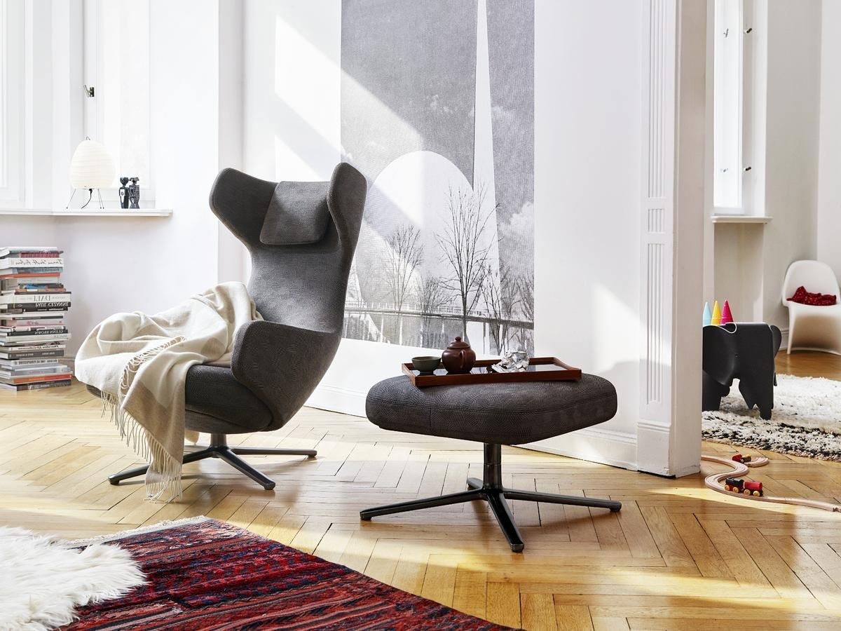 Designermöbel Büro Vitra Grand Repos And Ottoman Limited Edition Von Antonio