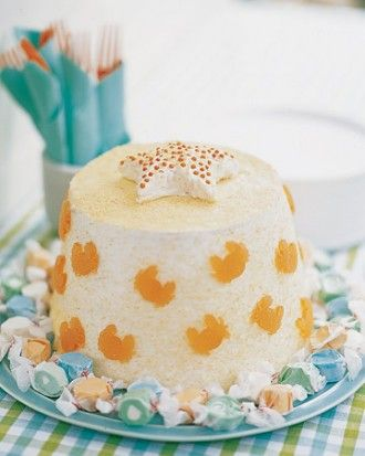 Sand Bucket Angel Food Cake Recipe Angel food cakes Food cakes