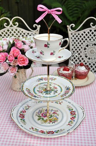 Pretty Mixed China 3 Tier Cupcake Stand | Flickr - Photo Sharing!