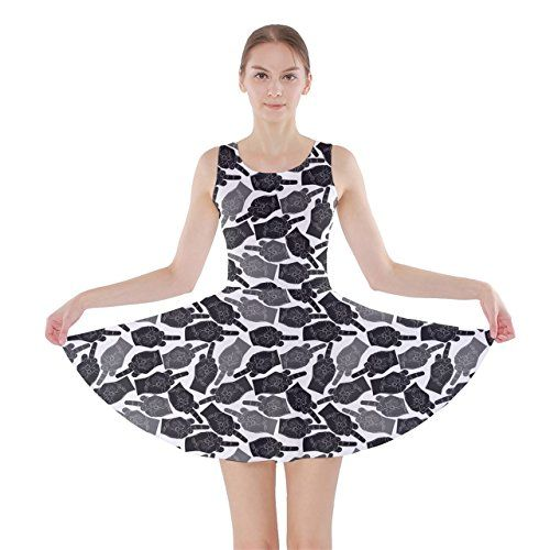 CowCow Womens Finger Shadow Skater Dress Finger  XL * Click image for more details.