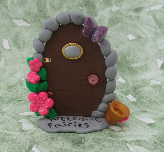 Tooth fairy door by ClayHoliday on Etsy, $14.95
