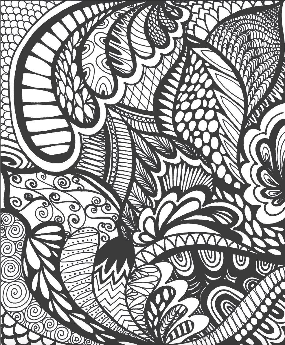 colorit coloring book calming doodles volume 1 doodle