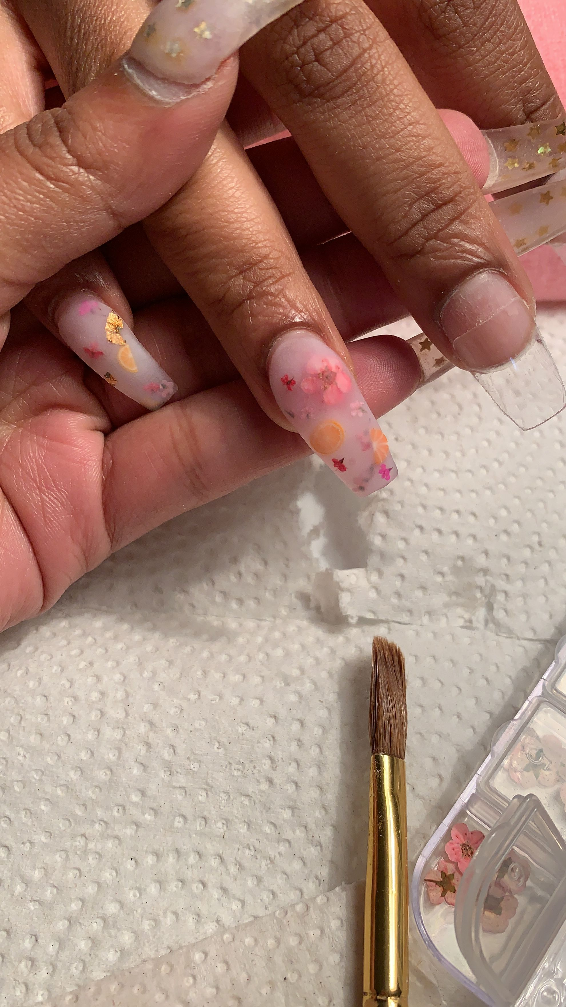 Milk Bath Nails Coffin Nails Dried Flower Nails Clear Tips Dry Nails Rose Nails Funky Nails