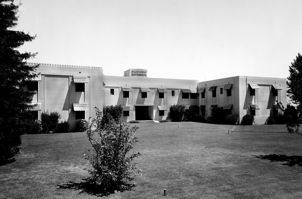 Sutter Maternity Hospital Is Shown In This 1937 Photograph Photo Courtesy Sutter Memorial Hospital Sacramento City Sacramento California Memorial Hospital