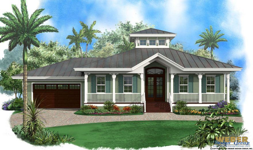Beach House Plan 1 Story Old Florida Style Coastal Home Floor Plan Beach Style House Plans Florida House Plans Florida Beach House