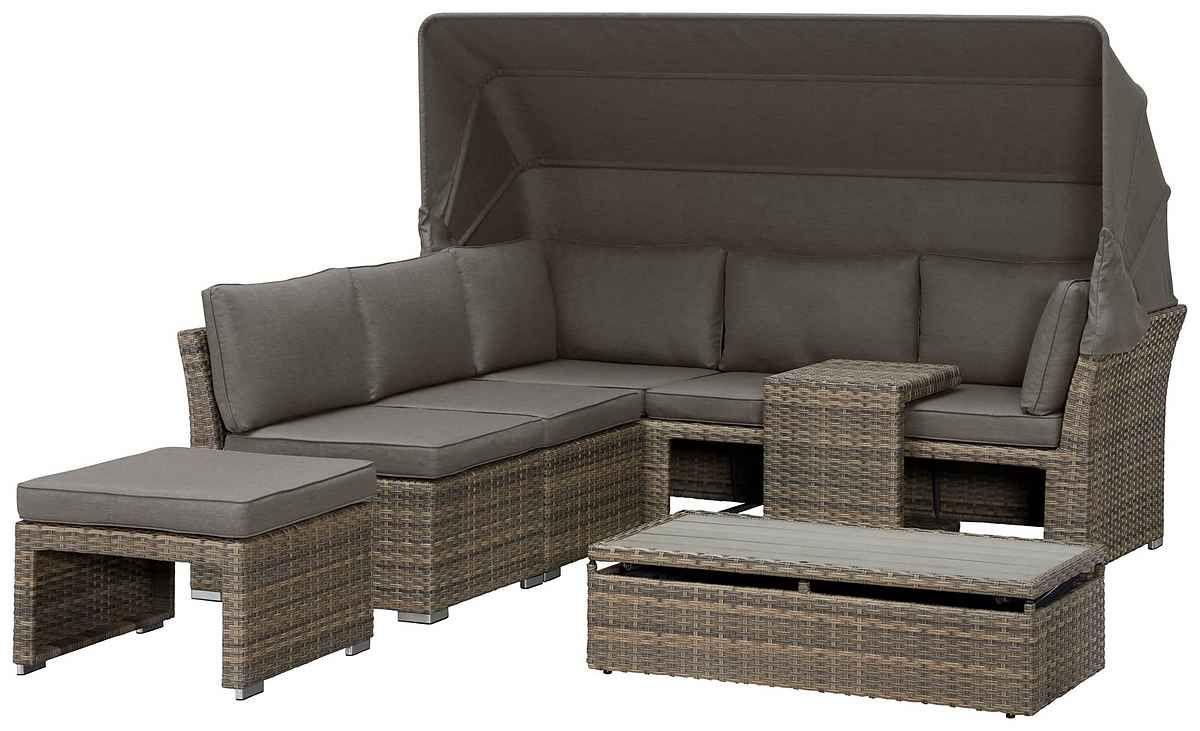 Konifera Loungebett Hawaii Premium 19 Tlg Polyrattan Inkl Auflagen Online Kaufen Otto Loungebett Polyrattan Lounge