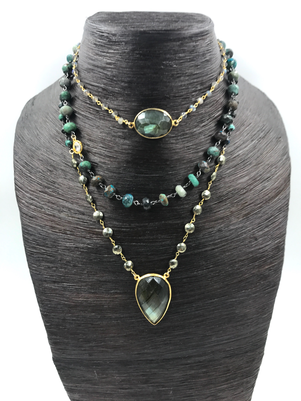 efb9303d92efa Triple layer Gemstone Choker Necklace   Jewelry - NKs Part 16 ...