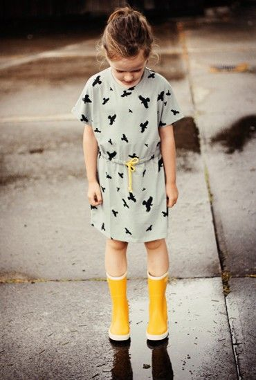 Beautiful dress co Mói and gumboots by Bergstein from Minor De:tailes