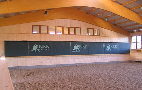 Mirror covers ... Great idea if the indoor is needed for turn out, for safety for young or inexperienced horses, horse shows, etc... mirror_indoor-blinds1.jpg 600×381 pixels