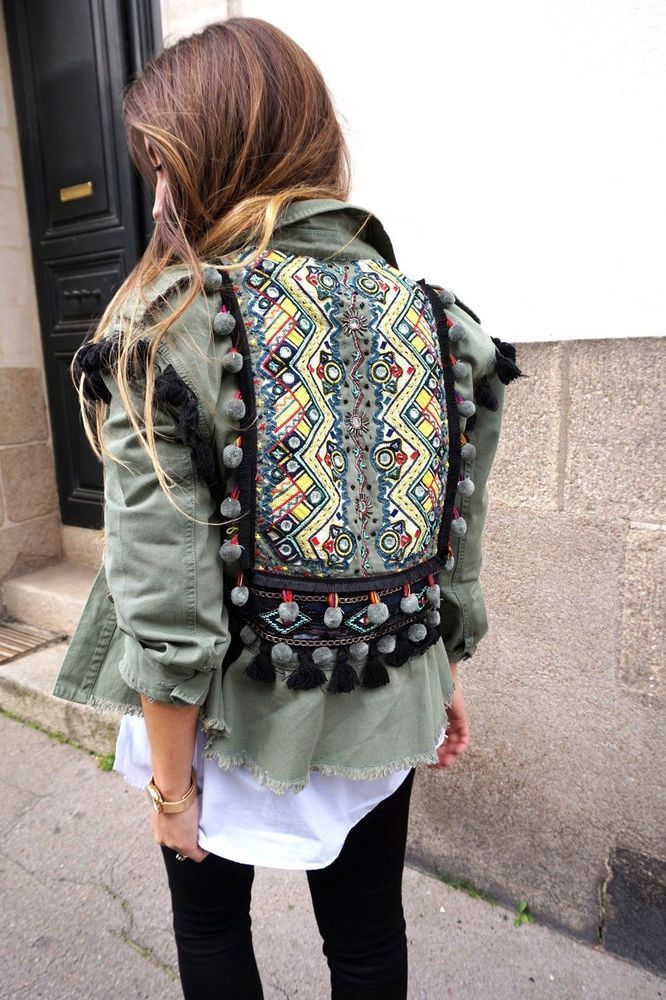 Parka Jacket With Embroidery And Pompoms 100 Cotton Parka With