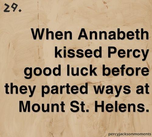 First Percabeth kiss!(: