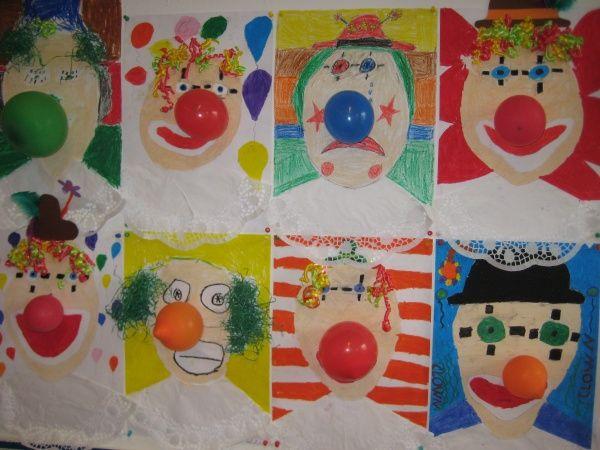 Bildergebnis Fur Kunst Mit Kindern Grundschule Clowns Basteln