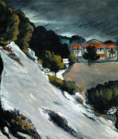 """Winter is white with black silhouettes."" (Paul Cezanne's Melting Snow at Lestaque)"