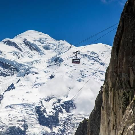 Cable Car In Front Of Mt Blanc From Mt Brevent Chamonix Haute Savoie Rhone Alpes France Photographic Print Jon Arnold Art Com Haute Savoie Chamonix Beach Landscape