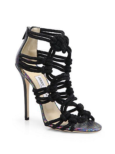 b37ca44fd67 Jimmy Choo - Kalmar Rope Sandals Shop at Saks Fifth Avenue at 150 Worth Ave  in Palm Beach FL