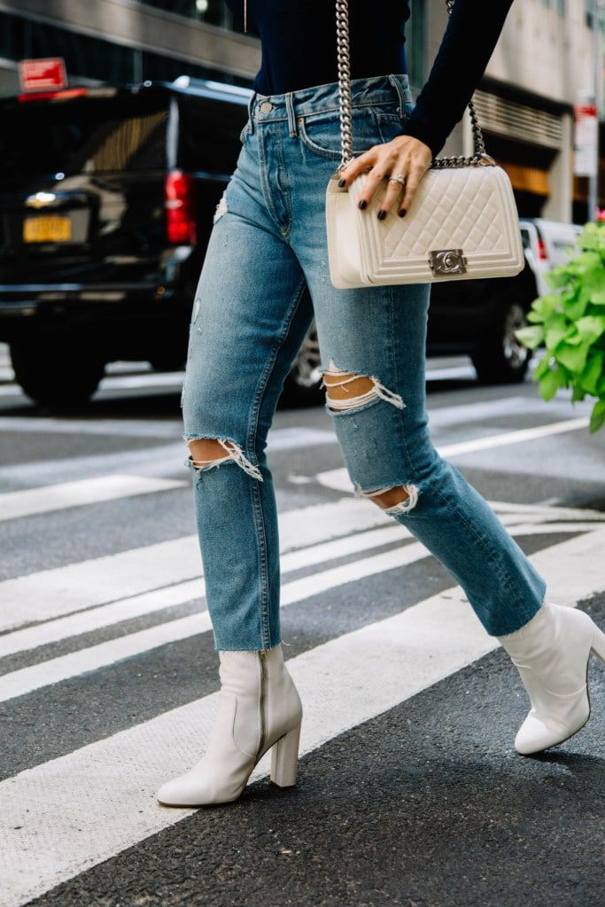 923c5377599 White Booties   Steve Madden White Booties   The Editor Bootie